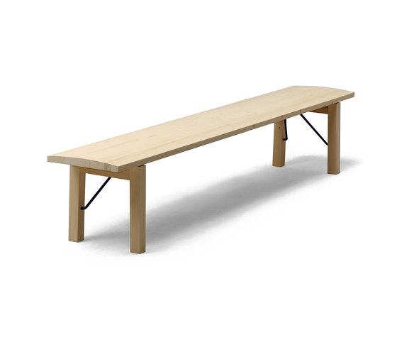 Arkitecture TJI3 Bench with folding legs by Nikari | Waiting area benches
