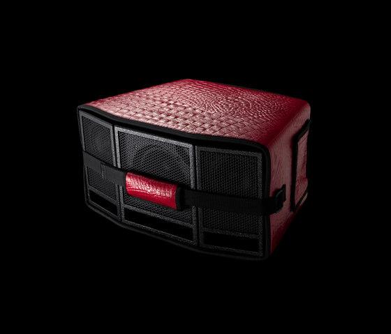 Classic Leather Bag Red di AUX | Sistemi audio