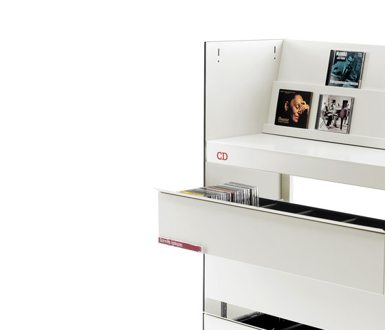 BBL DVD drawers by Mobles 114 | DVD displays / holder