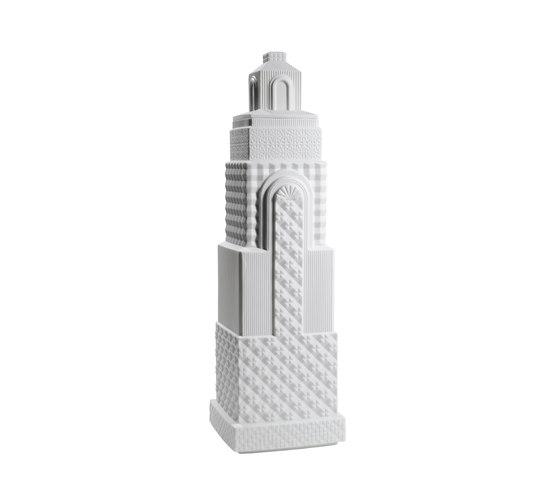 Metropolis - Vase II (white) by Lladró | Vases