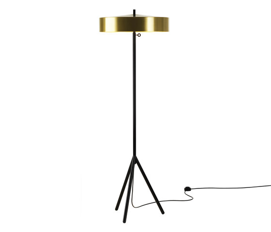 Cymbal 46 floorlamp brass colour by Bsweden | General lighting