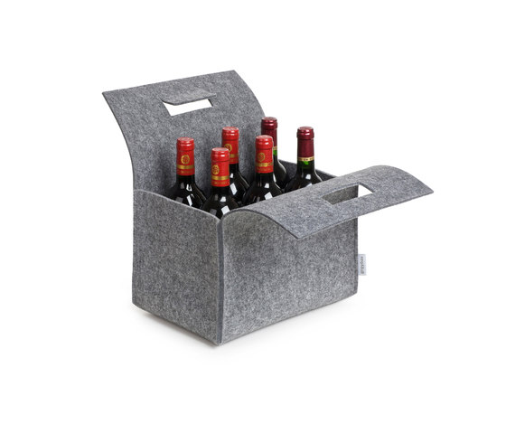 Little Porter Bottle Felt Carry Box by greybax | Storage boxes