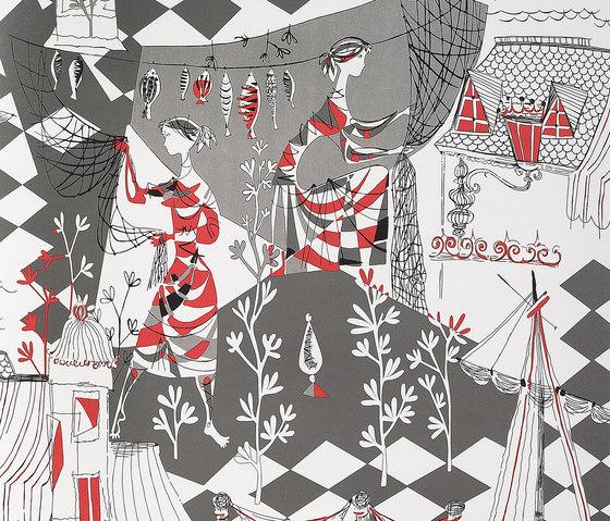 Villefranche rojo by Gastón y Daniela | Curtain fabrics
