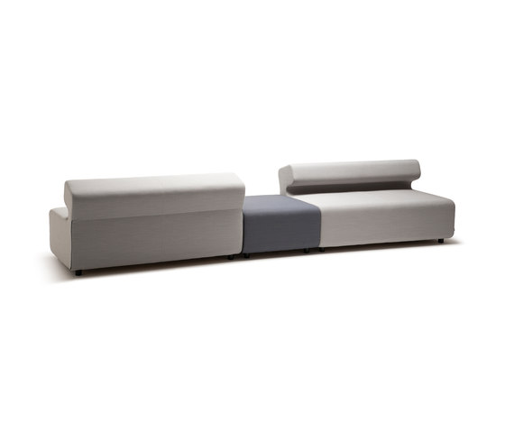 Up 4-Seater with backrest by Fora Form | Modular seating elements