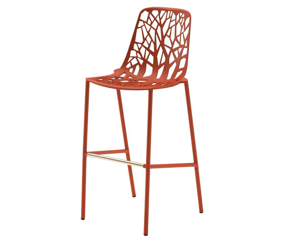 Forest barstool high backrest di Fast | Sgabelli bar