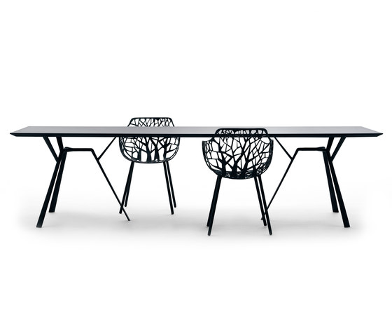 Radice Quadra table rectangular de Fast | Mesas para restaurantes