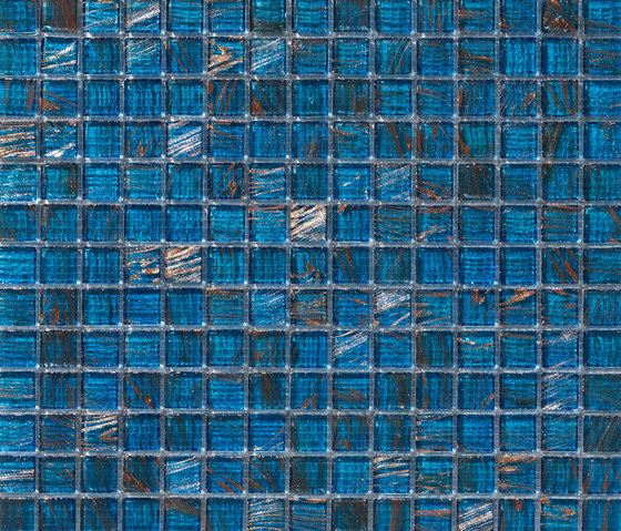 Aurore 20x20 Blu Orizzonte by Mosaico+ | Glass mosaics