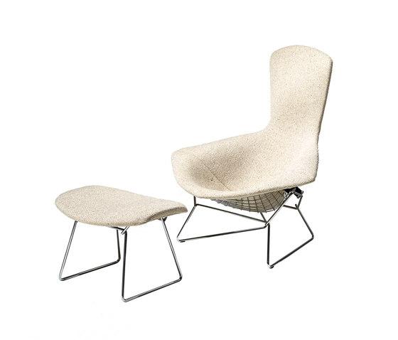 Bertoia Poltrona Relax con schienale alto e Sgabello di Knoll International | Poltrone