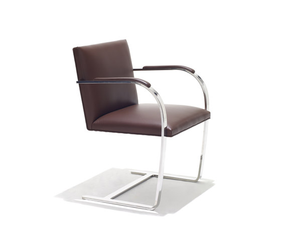 Brno flat bar Side Chair by Knoll International | Visitors chairs / Side chairs