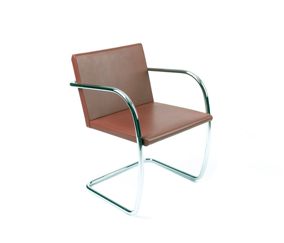 Brno tubular Side Chair by Knoll International | Visitors chairs / Side chairs