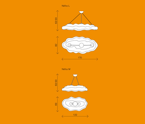 Néfos de MYYOUR | Luminaires suspendus
