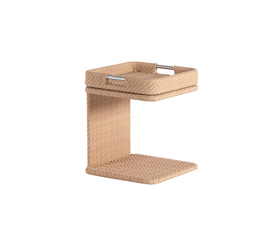 Combi low square table with tray by Point | Side tables