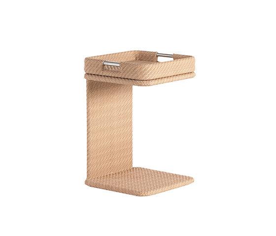 Combi Tisch mit Tablett, quadratisch von Point | Garten-Beistelltische