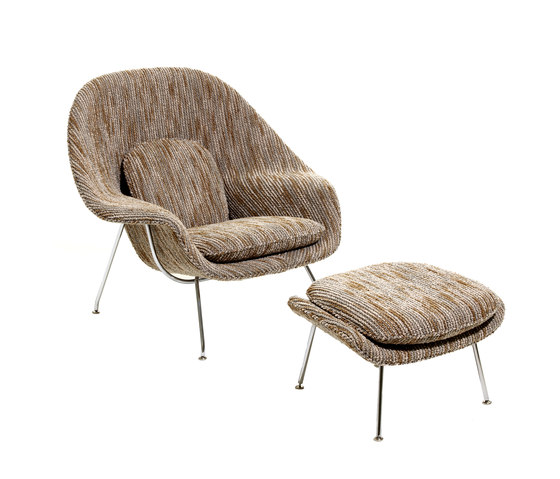 Saarinen Womb Stuhl & Ottoman von Knoll International | Loungesessel