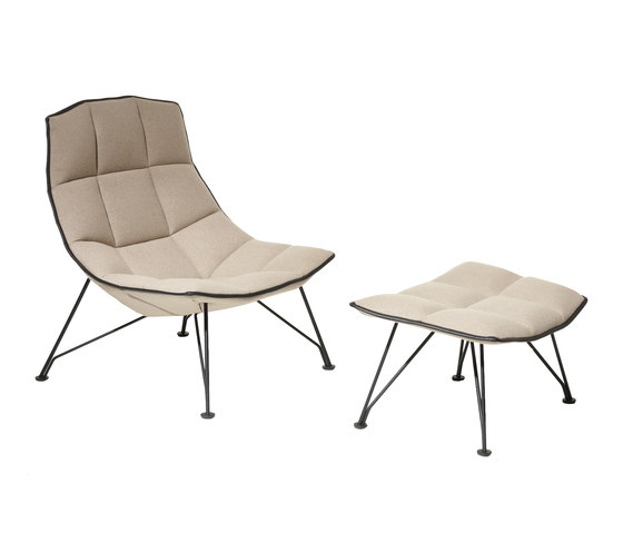 Jehs & Laub Lounge Sessel & Ottoman von Knoll International | Sessel