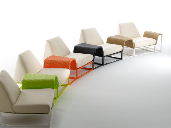 L.A. seat module by Point | Garden armchairs