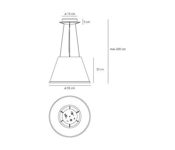 Choose Mega Suspension Lamp by Artemide | General lighting