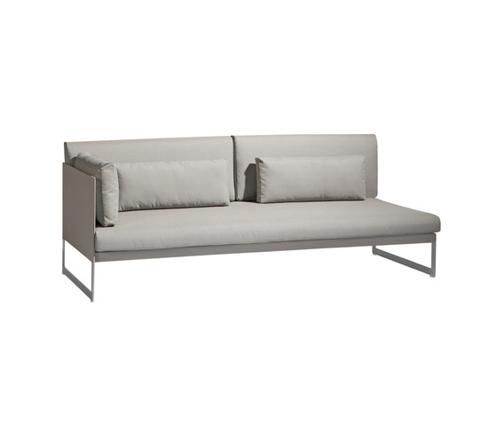 Squat Left & right corner double seat de Manutti | Sofas de jardin