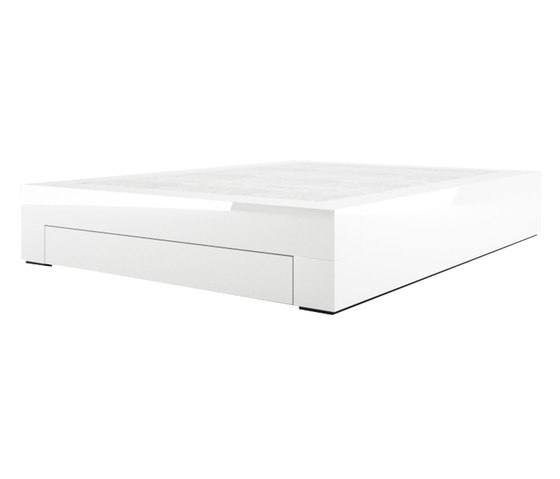 SOMNIUM Bed with bed drawer de Rechteck | Camas dobles