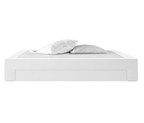 SOMNIUM Bed with bed drawer by Rechteck | Double beds