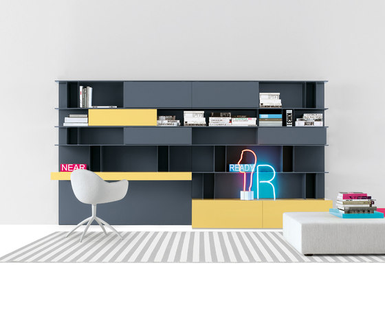 Skip system by Poliform | Wall storage systems