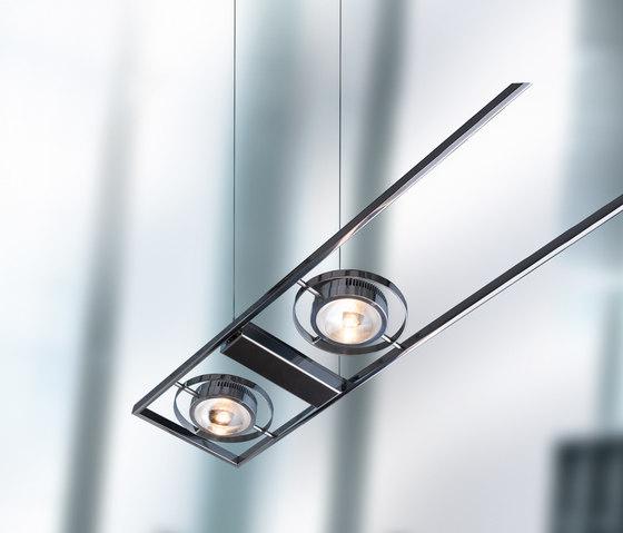 Ocular Serie 100 di Licht im Raum | Lampade a sospensione in acciaio inox
