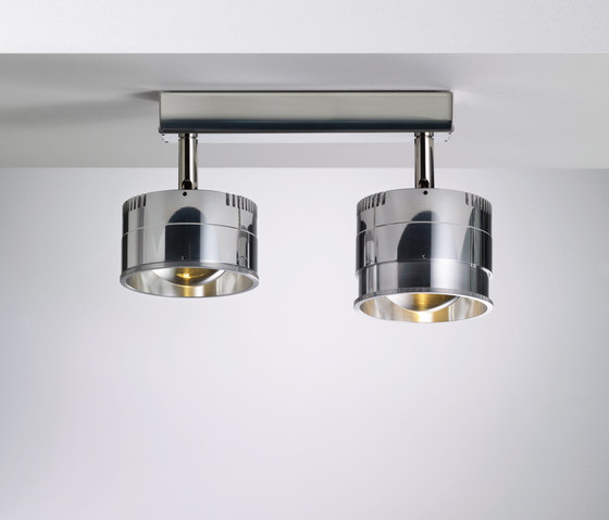 Ocular Spot 2 LED Zoom S 100 02 by Licht im Raum | Ceiling lights in stainless steel