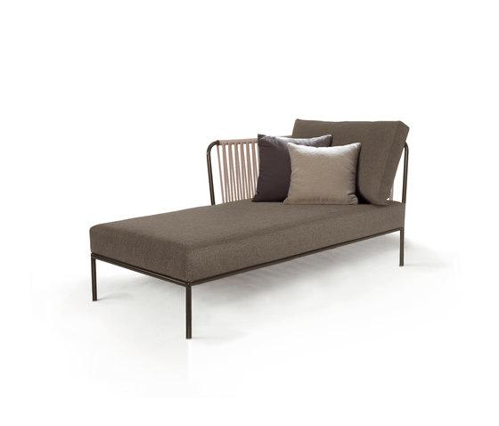 Nido Modulo chaise longue sinistro di Expormim | Divani da giardino