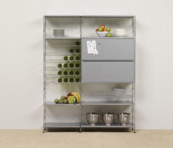 Tria 36 floor wall mounted by Mobles 114 | Shelves