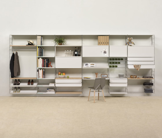 Tria 36 wall system by Mobles 114 | Shelving