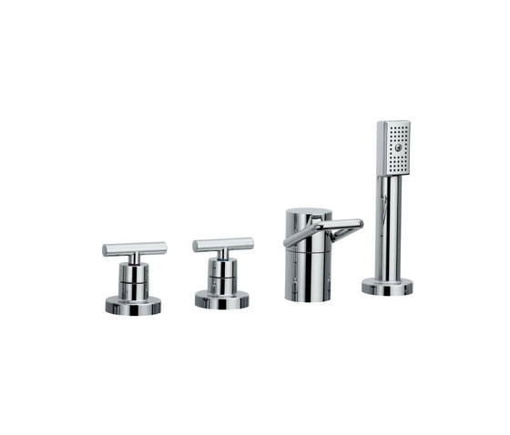 Twinprime | 4-holes roman tub filler by Laufen | Bath taps