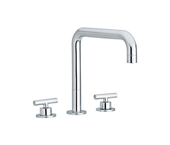 Twinprime | 3 holes basin mixer by Laufen | Wash-basin taps