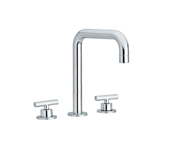 Twinprime | 3 holes basin mixer by Laufen | Wash-basin taps