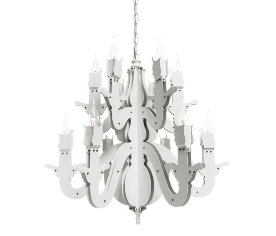 Night Watch chandelier round by Brand van Egmond | Ceiling suspended chandeliers