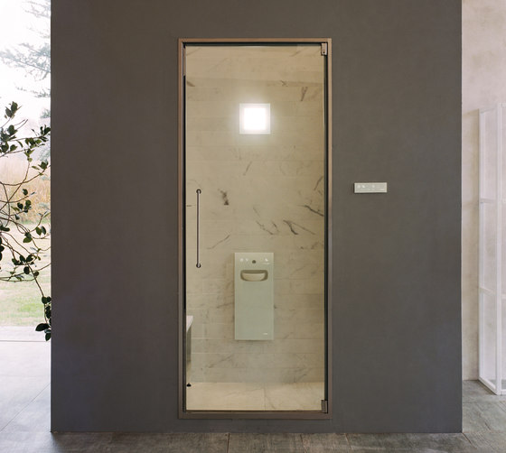Aquasteam with Spaziodue 105 door by EFFE PERFECT WELLNESS | Turkish baths