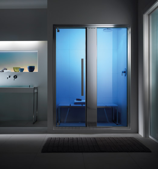 Omniasteam Touch 145 with Omnia 50 glass panel by EFFE PERFECT WELLNESS | Turkish baths