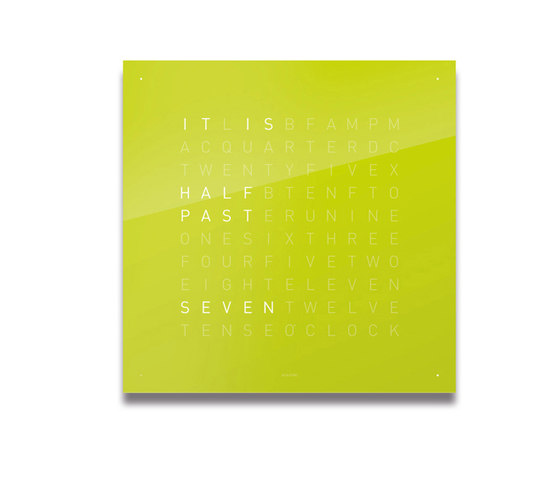 QLOCKTWO® CLASSIC Lime Juice by BIEGERT&FUNK | Clocks