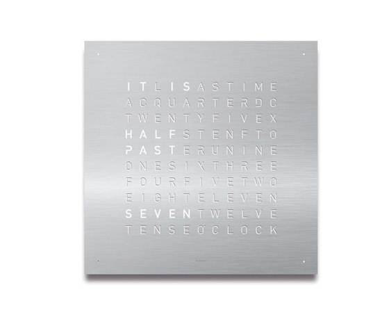 QLOCKTWO® CLASSIC Stainless Steel by BIEGERT&FUNK | Clocks