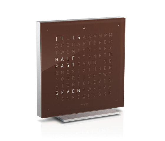 QLOCKTWO® TOUCH Dark Chocolate by BIEGERT&FUNK | Clocks