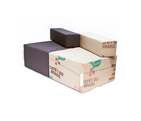 Coffee Cube Backrest di Green Furniture Concept | Pouf