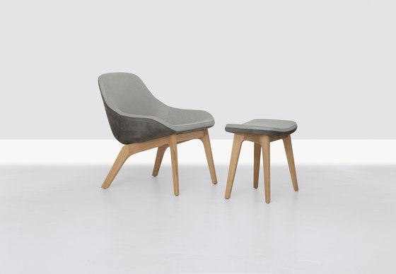 Morph Lounge and Pouf de Zeitraum | Fauteuils d'attente
