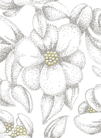 Bloom grey | yellow by BANTIE | Curtain fabrics