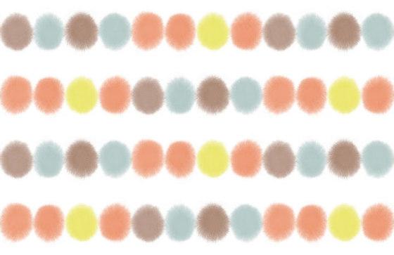 Fia multi red | yellow (voile) von BANTIE | Vorhangstoffe