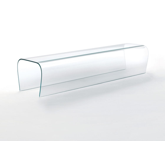 Bent Glass Bench von Glas Italia | Wartebänke