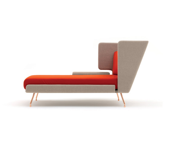 A&A Lounge Chaise Longue de Knoll International | Chaise longues