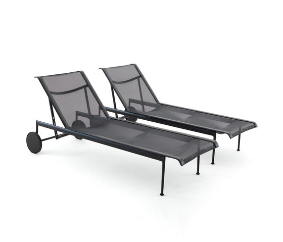1966 Adjustable Chaise Lounge Black by Knoll International | Sun loungers