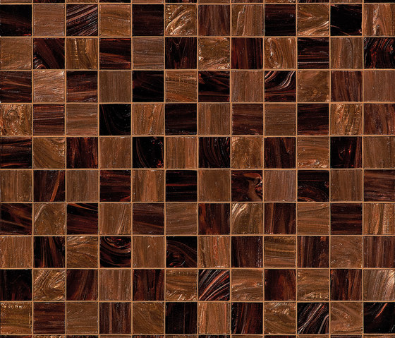 Checkmate Brown by Bisazza | Glass mosaics