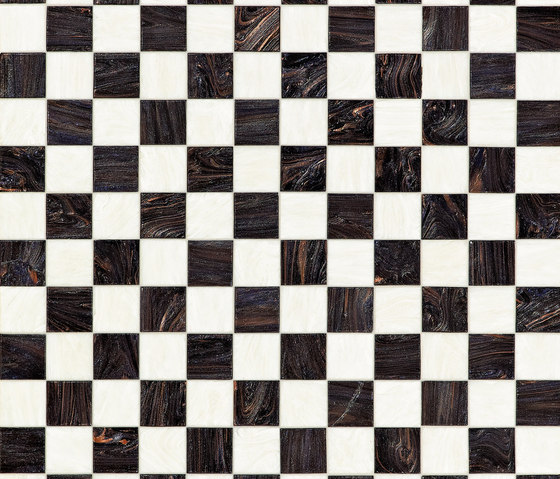 Checkmate Black de Bisazza | Mosaïques verre