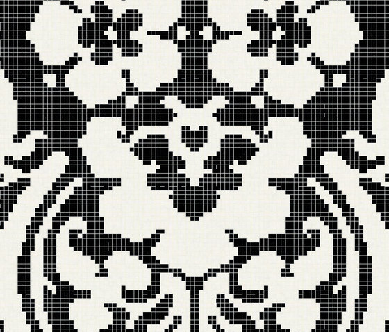 Decoupage Noir by Bisazza | Glass mosaics