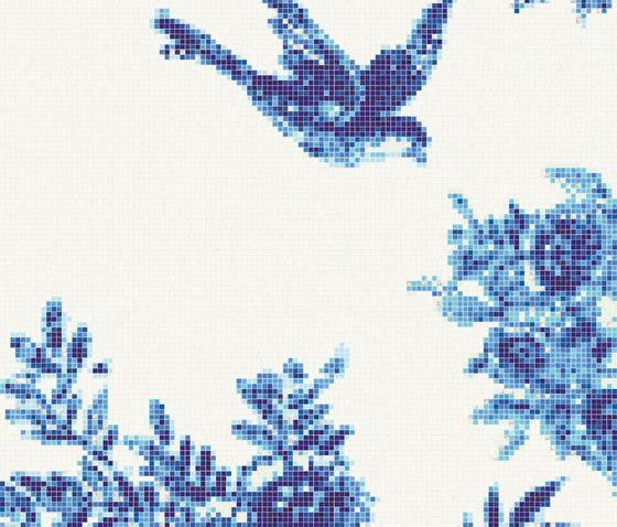 Jardin Bleu B von Bisazza | Glas Mosaike